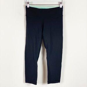 Lululemon Black Capri Workout Legging Size 4